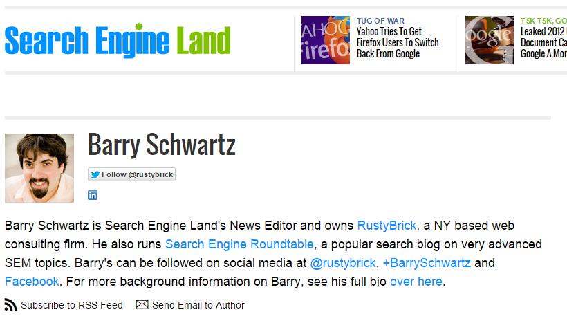 Barry Schwartz Search Engine Land Author - Jon Tavarez